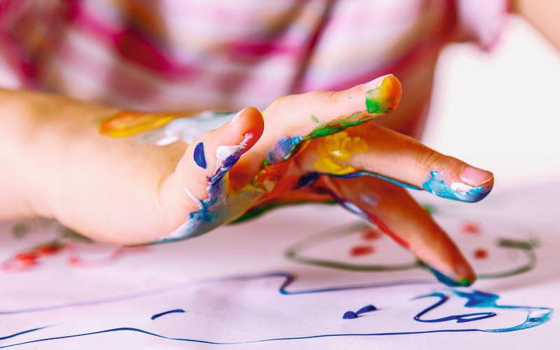 peinture à doigt